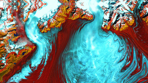 Abstract motion background. Original satellite images of Earth from space. Loop Live Action