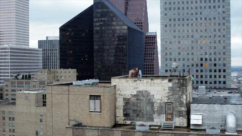 Pan Downtown Buildings stock footage