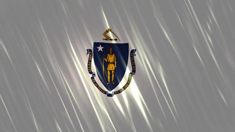 Massachusetts State Loopable Flag Animation