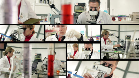 lab science montage Live Action