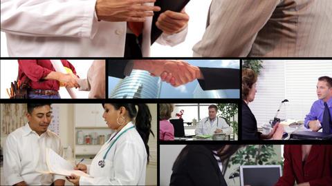 business handshake montage Footage