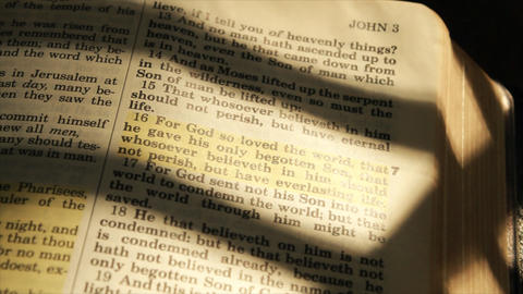 wide shot john 16 in bible Footage