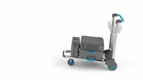 Airport trolley drive Animation