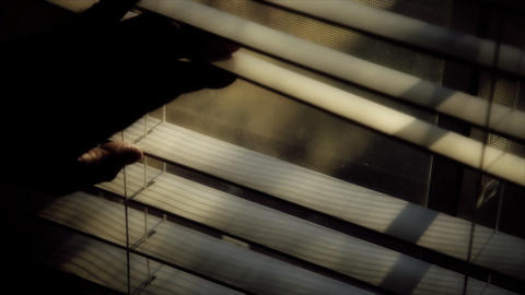 looking through window blinds Footage