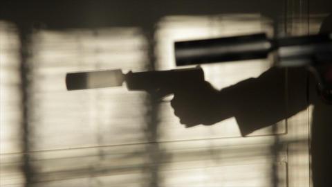 assassin suppressed gun fire Footage