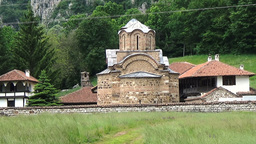 Roks and Poganovo Monastery of St. John the Theologian and Erma River Gorge, Ser Footage