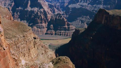 Tilt Up Canyon stock footage