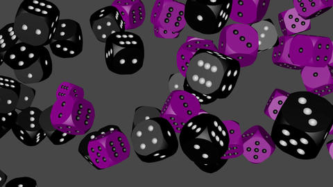 Black and Purple Dice Collided Animation