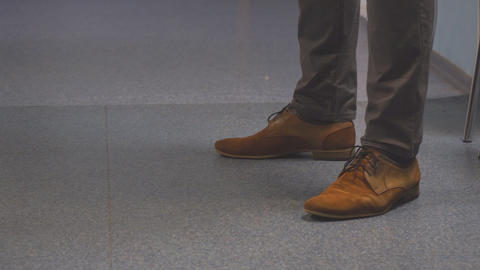 Feet men in brown shoes Footage