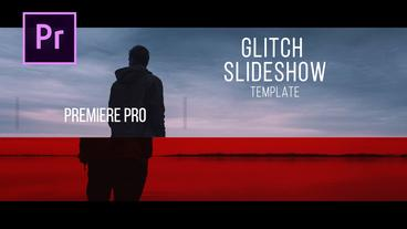 Glitch Slideshow Premiere Proテンプレート