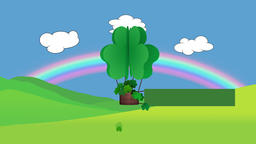 St Patrick's day animation with blank banner for own message Animation