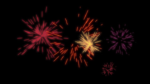 Particles firework v2 After Effects Template