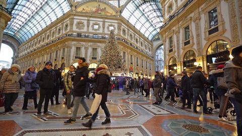 Vittorio Emanuele II Gallery in Milan GIF