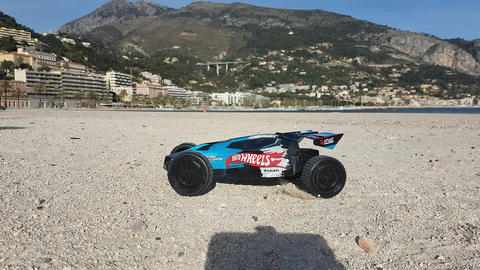 Off Road Buggy Car RC On The Sand Beach Archivo