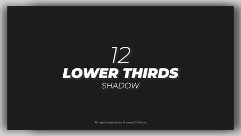 Lower Thirds Shadow After Effectsテンプレート