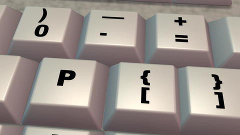 Computer keyboard , keys 3d animation Animation