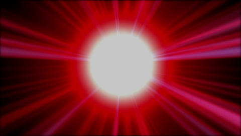 Background of red rays shining and sparking Animation