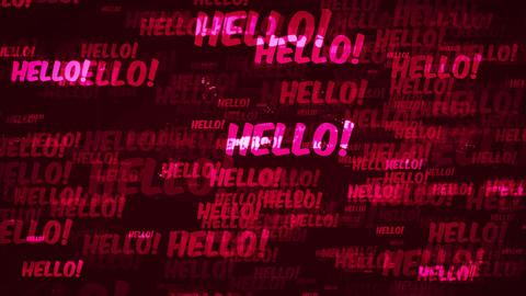 4k Hello Message Background Loop Animation