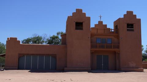 Native American Catholic Church In Tesuque Pueblo New Mexico USA GIF