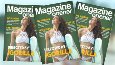 Magazine Opener Premiere Pro Template