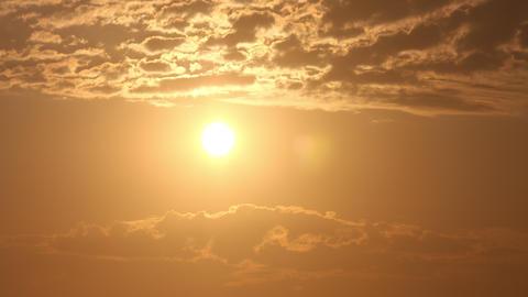 Cloudy Sunrise Time Lapse Archivo