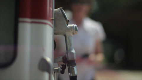 old gas pump Footage