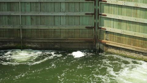 wooden boat locks Footage