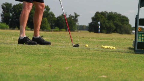 Golfer Swing Closeup stock footage