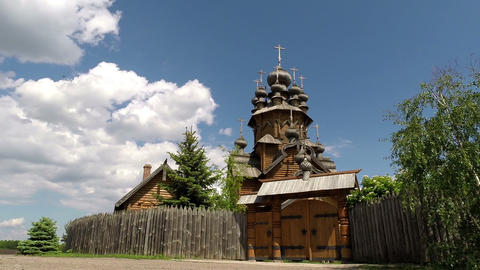 Wooden Orthodox church Live Action