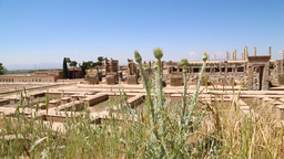 in iran persepolis the old ruins historical destination monuments and ruin Footage