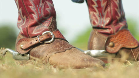 cowboy riding boots with spurs Live Action