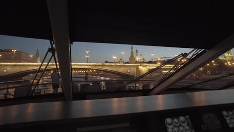 Bridge And Moscow Kremlin's Wall Footage