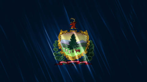 Vermont State Loopable Flag Animation