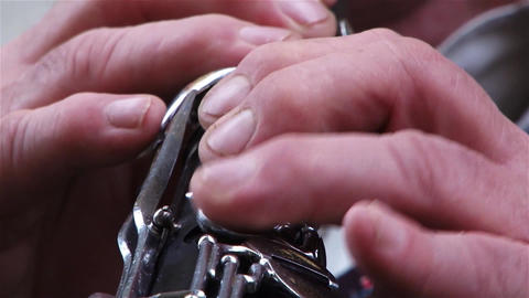 Clarinet fingers a singer during a performance of music 01 Footage