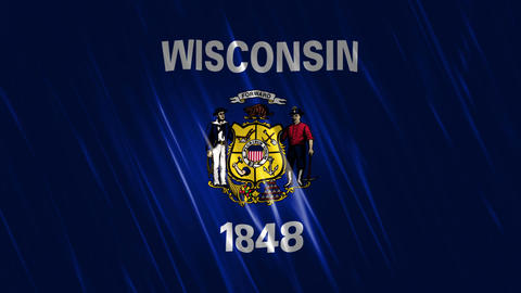 Wisconsin State Loopable Flag Animation