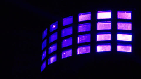Light shows produced by a rectangular reflector mirror disco 06 Footage