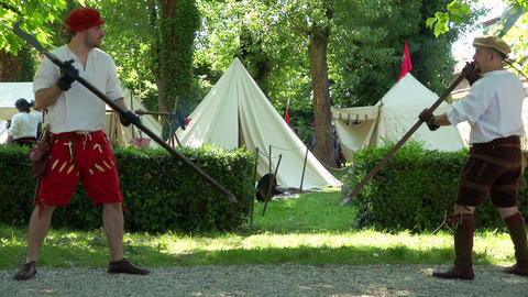 Renaissance Military Camp Training Footage