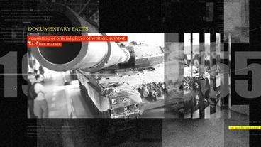 4K War History Documentary Opener (CS6) After Effectsテンプレート