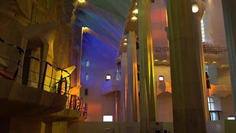 Barcelona, Spain - Circa January 2019: Sagrada Familia Interior. Gaudi Temple Archivo