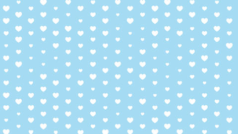 Pattern of hearts on a blue background Animation