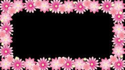 frame with pink flowers 애니메이션