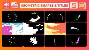 Geometric Shapes And Titles After Effects Template