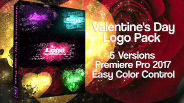 Valentine's Day Logo Pack After Effects Template