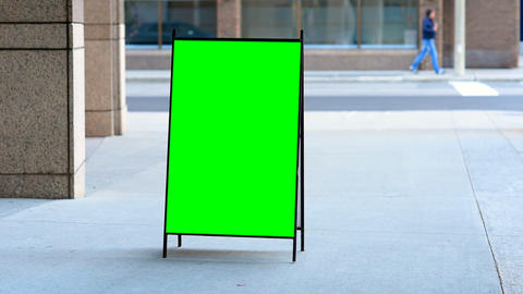 Empty menu board on the street 4k Live Action