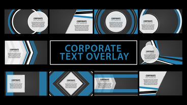 Corporate Text Overlays Motion Graphics Template