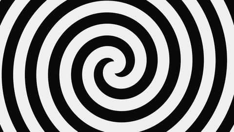 Black And White Hypnotic Spiral, Loop Footage