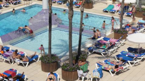 Public Swimming Pool Footage
