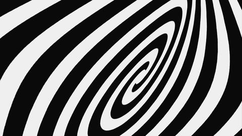 Black And White Hypnotic Spiral, Loop Stock Video Footage