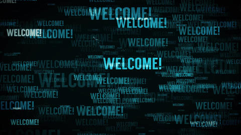 4k Welcome Message Background Loop Animation