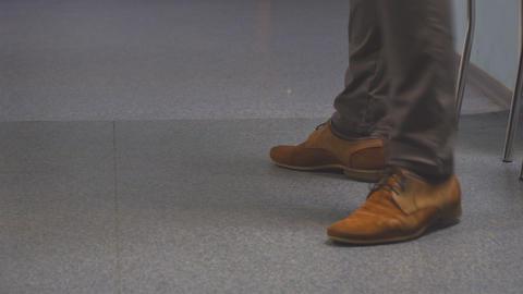 Feet men in brown shoes 영상물